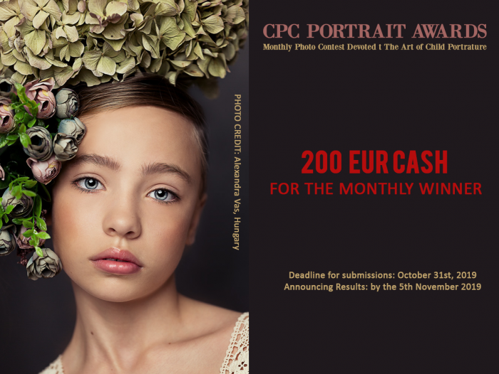 CPC Portrait Awards - Monthly Photo Contest - The Art of Child Portrature WINNER